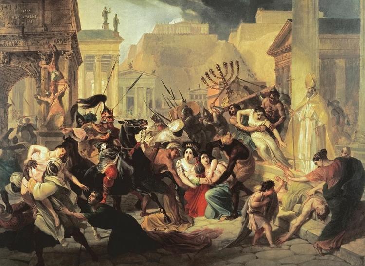 Ещё в начале V века в Рим смогли вторгнуться варвары — это стало очень тревожным сигналом для империи