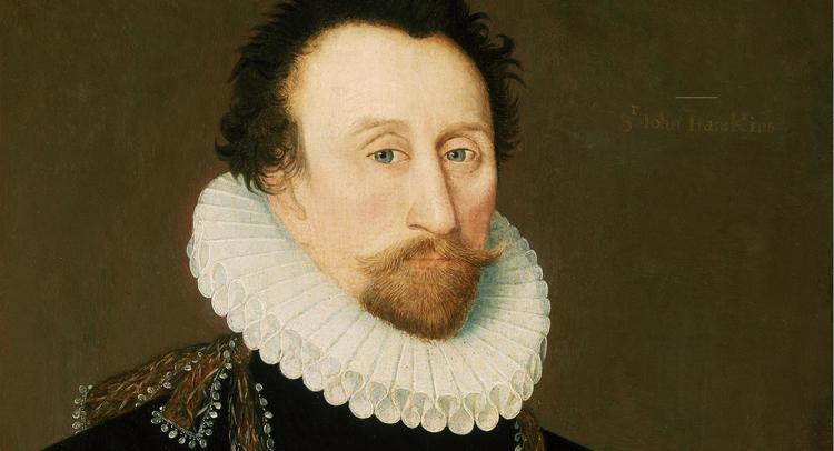 Это знаменитый английский моряк Джон Хокинс — в каком-то смысле он являлся учителем Дрейка