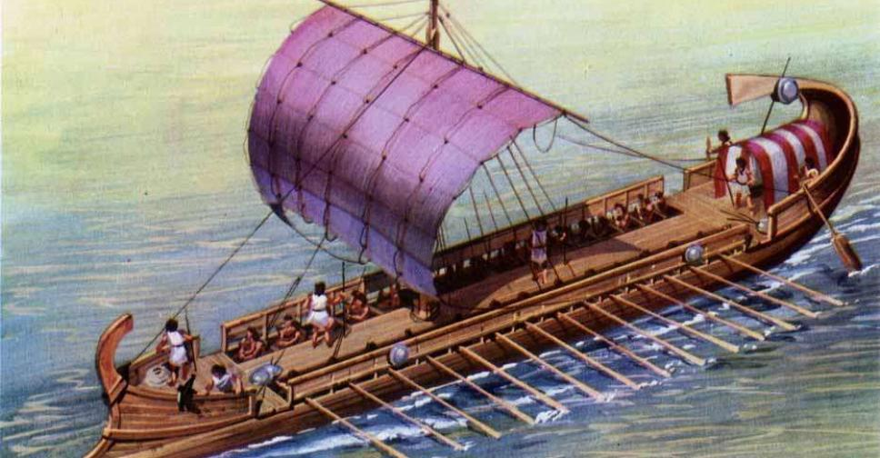 Древнегреческий корабль т