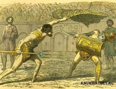 Бои гладиаторов в древнем Риме
