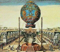 В 1783 году впервые публично испытали аэростат