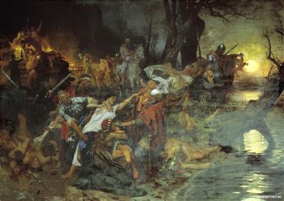 В 860 году состоялось первое нападение руссов на Константинополь