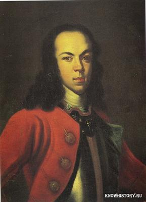 В 1718 году умер сын Петра Первого от первой жены царевич Алексей
