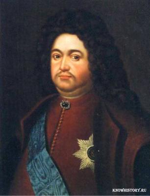 Боярин Федор Алексеевич Головин стал первым кавалером высшей российской награды