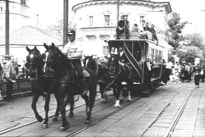 В 1872 году в Москве открыли первую конно-железную дорогу