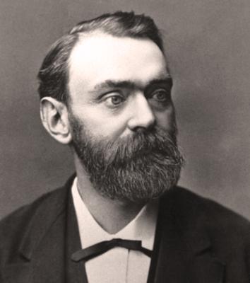 портрет Альфреда Нобеля