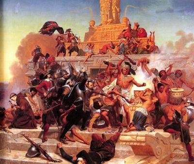 В 1519 году началось завоевание Испанией империи ацтеков