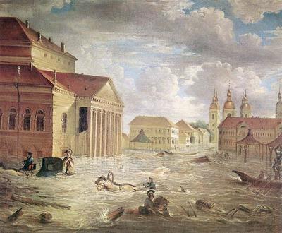 19 ноября в 1824 году в Санкт-Петербурге случилось наводнение