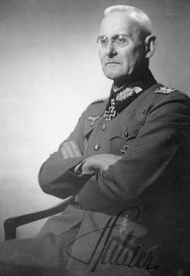 В 1941 году генерал-полковник Франц Гальдер оставил в дневнике запись