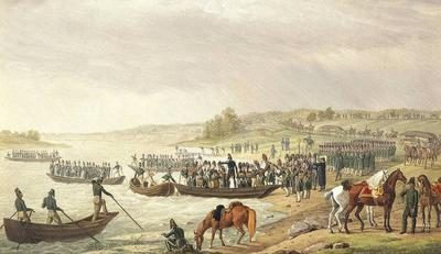 В 1796 году Наполеон форсировал реку По у городка Пьяченца, начав вторжение в Ломбардию