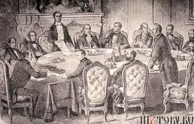 В 1814 году Франция и страны-участники шестой антинаполеоновской коалиции подписали Парижский мирный договор