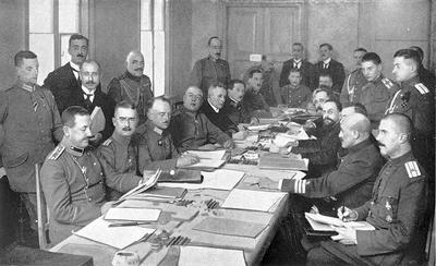 В 1918 году Германия завладела Прибалтикой, Финляндией, Белоруссией, Украиной, Крымом