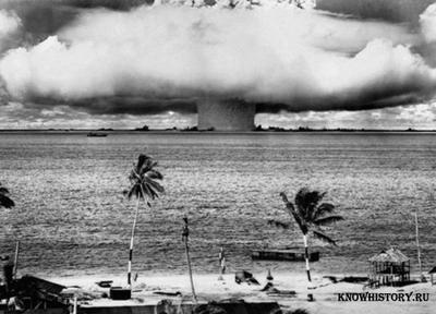 взрыв водородной бомбы мощностью 15 мегатонн