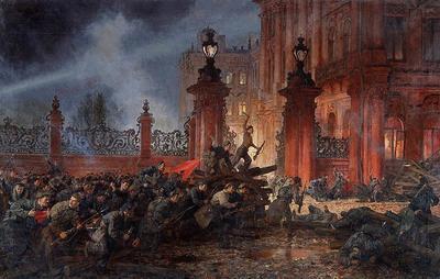 7 ноября в 1917 году с Петропавловской крепости был открыт огонь по Зимнему дворцу