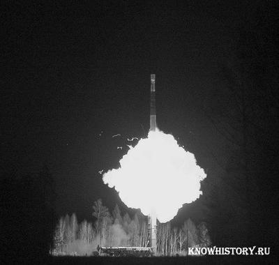 Запуск ракеты с космодрома