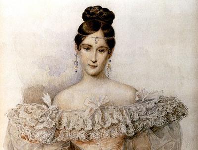 Наталья Гончарова-Пушкина, жена великого поэта