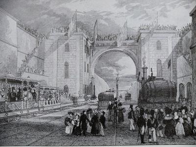 В 1830 году открылось регулярное железнодорожное сообщение между английскими городами Ливерпуль и Манчестер