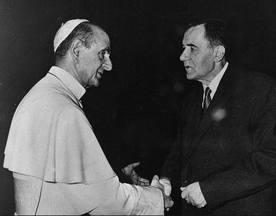 В 1966 году министр иностранных дел СССР Андрей Громыко отправился в Ватикан на встречу с Павлом VI