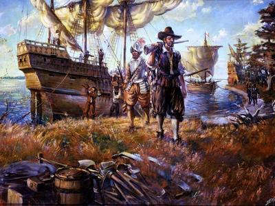 В 1607 году в Чесапикском заливе у побережья Северной Америки бросили якоря британские корабли
