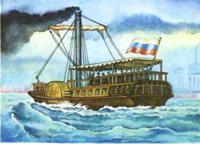 """15 ноября в 1815 году первый русский пароход """"Елизавета"""" совершил первый рейс"""