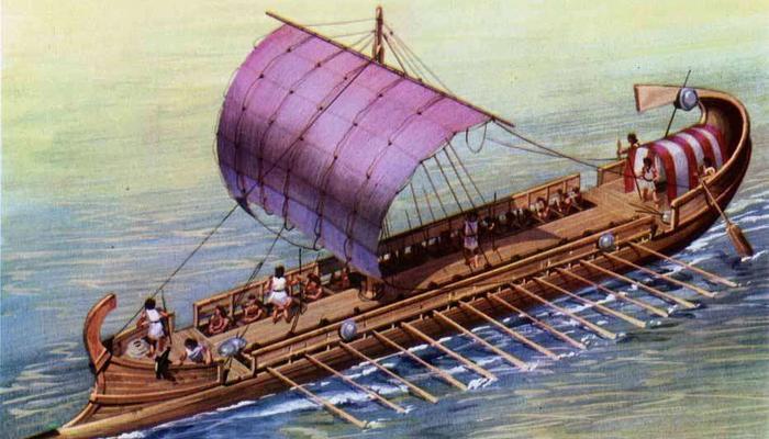 Военные корабли Древнего мира