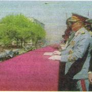 И. Броз Тито принимает парад в Белграде