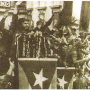 Ф. Кастро на митинге в Гаване. 1959 г.