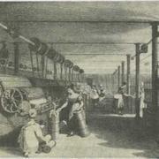 На английской хлопковой фабрике, 1842