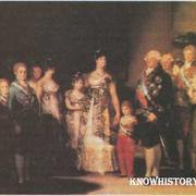 Карл IV и его семья. Ф. Гойя. Слева (в тени) художник изобразил самого себя