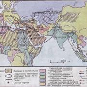 Карта мусульманского мира XIX в