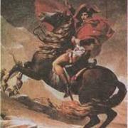 Наполеон на Сен-Бернарском перевале, 1801. Жак Луи Давид. Картина написана по заказу императора, исполнена с живописным блеском, но холодная и напыщенная. Образ Наполеона идеализирован