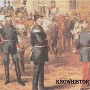 Наполеон III сдается на милость германскому императору. После битвы под Седаном