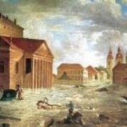 первое в истории Петербурга наводнение