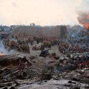 В 1855 году войска союзников начали общий штурм Севастополя