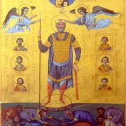 Василий II, коронуемый ангелами.
