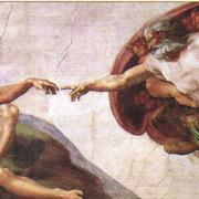 Микеланджело. Сотворение Адама. Сикстинская капелла