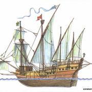 Португальская каравелла. Современный рисунок