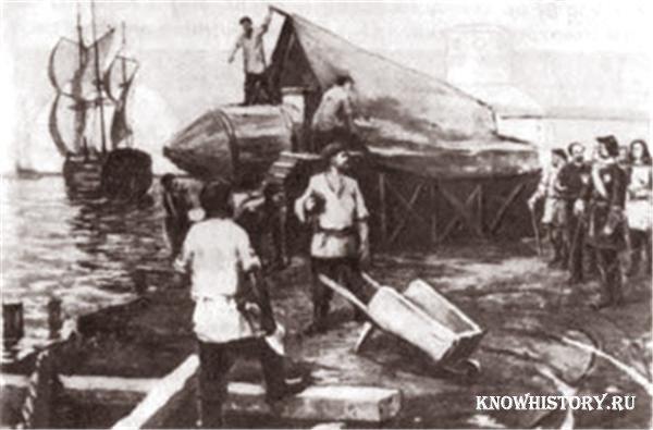 история первой подводной лодки в россии для детей