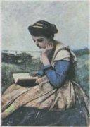 Читающая женщина. К. Коро (1796—1875).