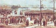 Восстание 14 декабря 1825 г. на Сенатской площади в Петербурге. Художник К. Кольман