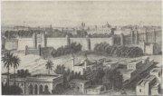 Красный форт в Дели, первая половина XIX в. Здесь доживал последние дни английский пенсионер Великий Могол Бахадур-шах II (1837—1857), лишенный власти