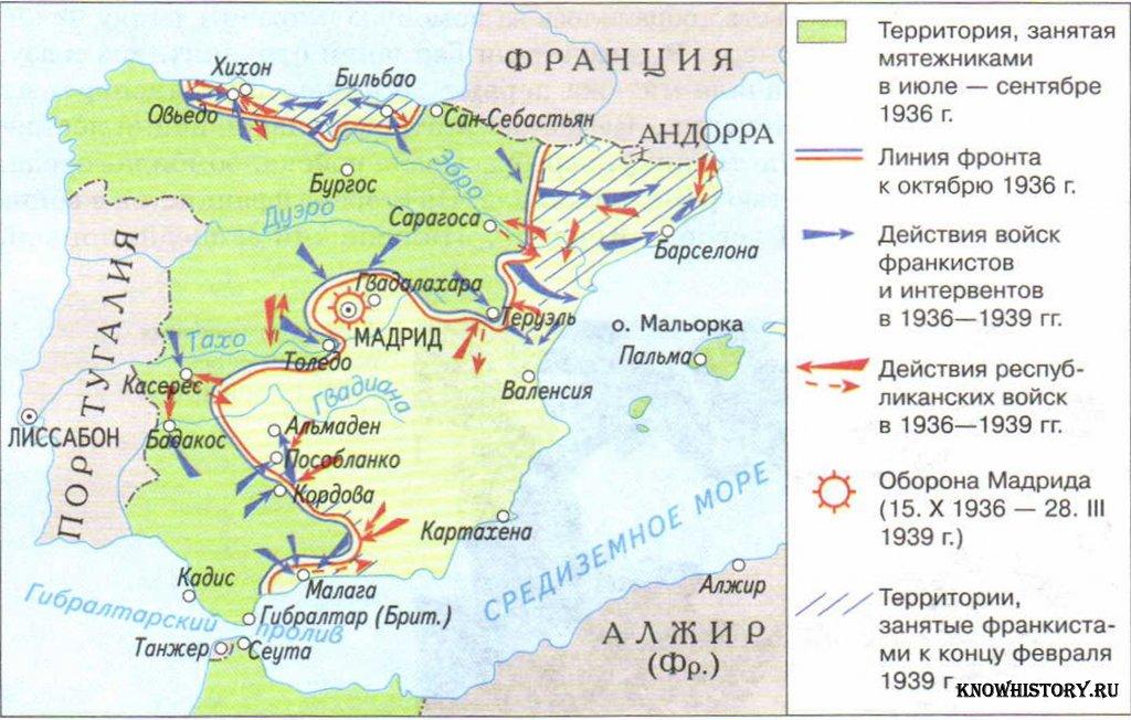 Гражданская война в испании 1936 1939 гг