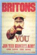 Британский плакат с призывом вступать в армию
