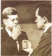 Дж. Кеннеди (слева) и Р. Никсон во время предвыборной кампании
