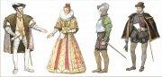 Испанские дворяне. Современный рисунок