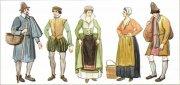 Французские крестьяне и горожане. Современный рисунок